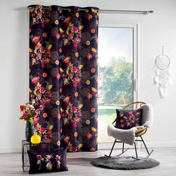 Rideau tamisant (140 X 260 cm) Botania Multicolore - Rideau ...