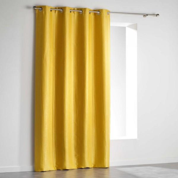 rideau occultant 140 x 240 cm paleo jaune rideau voilage store eminza. Black Bedroom Furniture Sets. Home Design Ideas