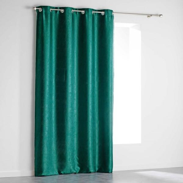 rideau occultant 140 x 240 cm shadow vert meraude rideau voilage store eminza. Black Bedroom Furniture Sets. Home Design Ideas