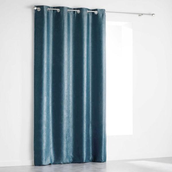 rideau occultant 140 x 240 cm shadow bleu rideau. Black Bedroom Furniture Sets. Home Design Ideas