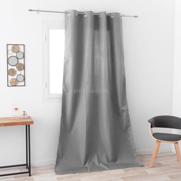 rideau obscurcissant isolant 140 x 260 cm avoriaz gris. Black Bedroom Furniture Sets. Home Design Ideas