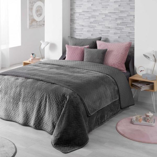 Couvre lit (220 x 240 cm) Bellanda Gris anthracite   Linge de lit