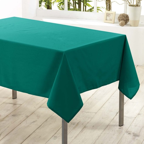 Nappe rectangulaire anti tache (L200 cm) Essentiel Emeraude