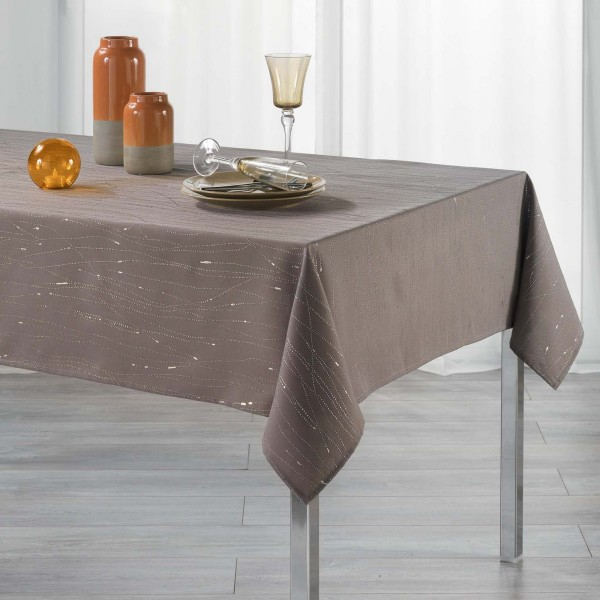 Nappe rectangulaire (L240 cm) Filiane Marron glacé