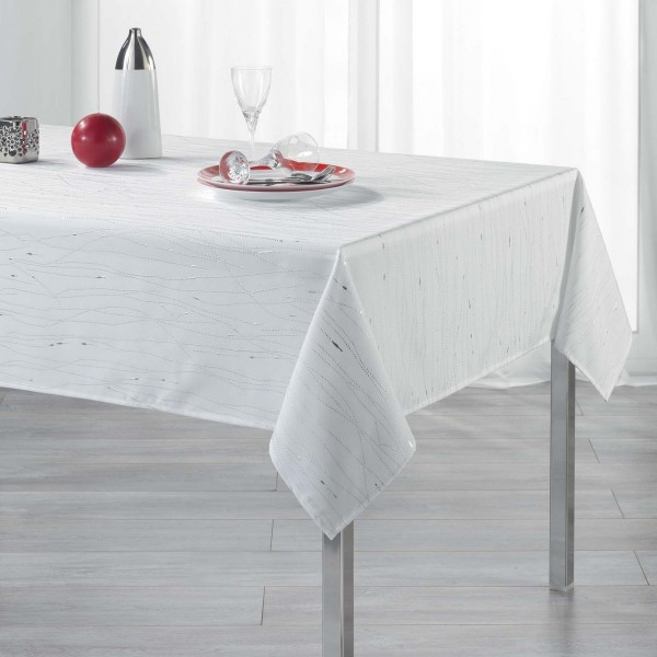 Nappe rectangulaire (L300 cm) Filiane Blanc