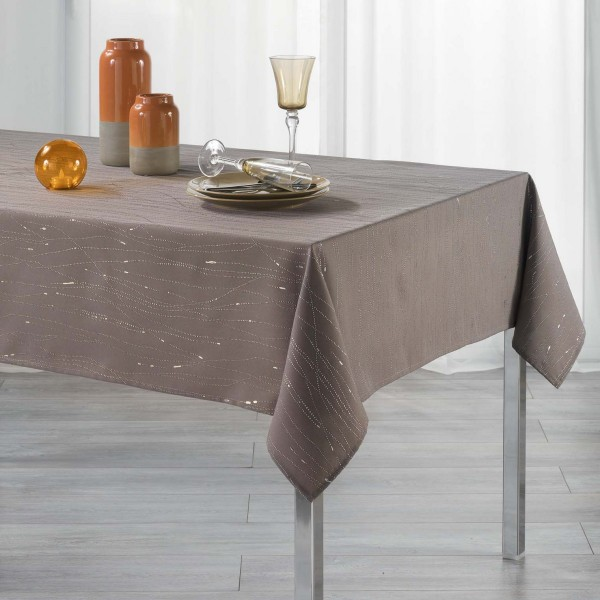 Nappe rectangulaire (L300 cm) Filiane Marron glacé