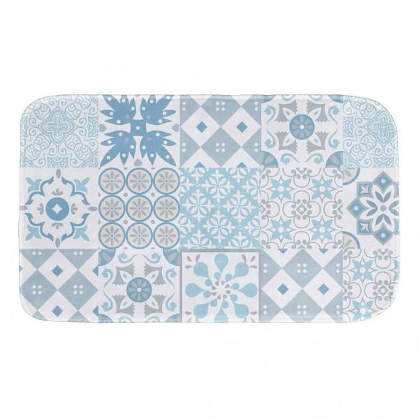 Tappeto da bagno lagos blu tappeto eminza - Tappeto bagno blu ...