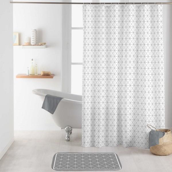 Rideau de douche (200 cm) Kubia Blanc - Accessoire Douche/Baignoire ...