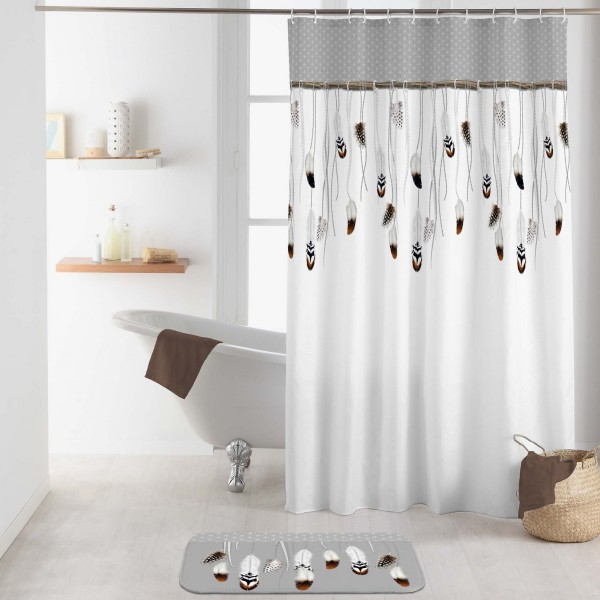 Rideau de douche (200 cm) Tallulah Gris - Accessoire Douche ...