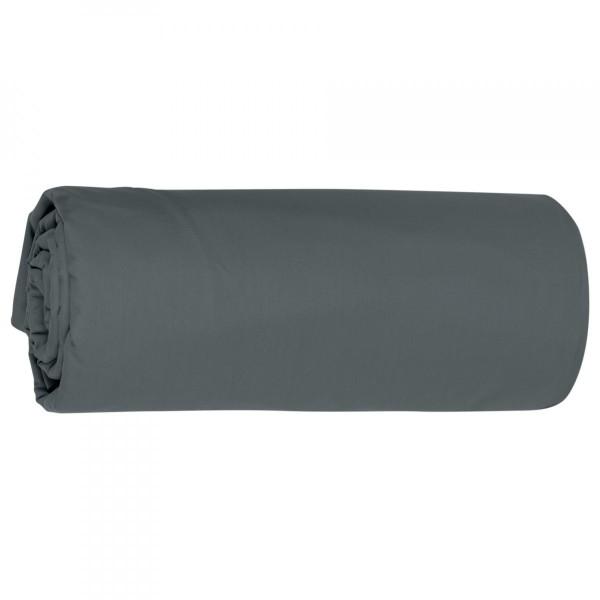 drap housse percale de coton 80 x h30 cm manoir gris ardoise linge de lit eminza. Black Bedroom Furniture Sets. Home Design Ideas