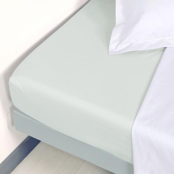 drap housse percale de coton 120 x h30 cm manoir gris perle linge de lit eminza. Black Bedroom Furniture Sets. Home Design Ideas