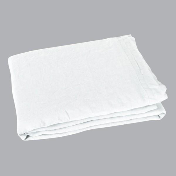Drap Plat Lin Lave 270 Cm Sonate Blanc Neige Linge De Lit Eminza