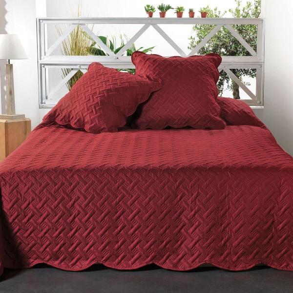couvre lit et taie d 39 oreiller 180 x 240 cm californie orange linge de lit eminza. Black Bedroom Furniture Sets. Home Design Ideas