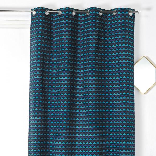 rideau tamisant 140 x 245 cm selena bleu ciel rideau voilage store eminza. Black Bedroom Furniture Sets. Home Design Ideas