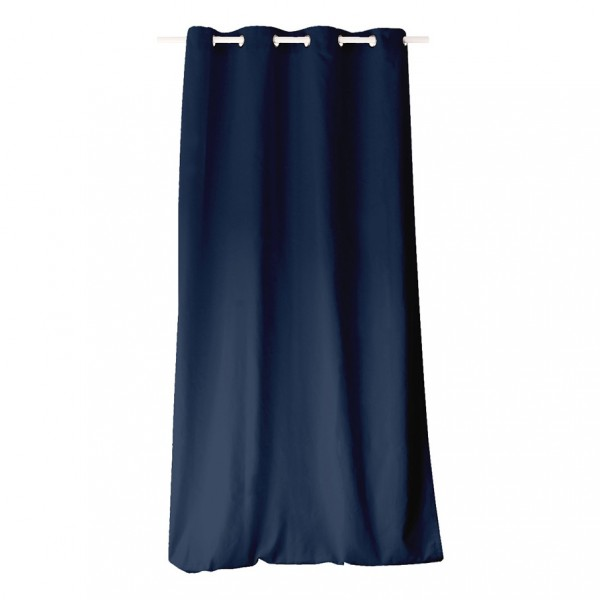 rideau tamisant 135 x 240 cm etna bleu marine rideau voilage store eminza. Black Bedroom Furniture Sets. Home Design Ideas