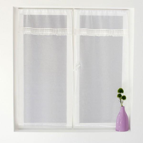 Paire de voilages (60 x 160 cm) Goa Blanc