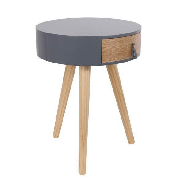 Table de chevet Nora Grise