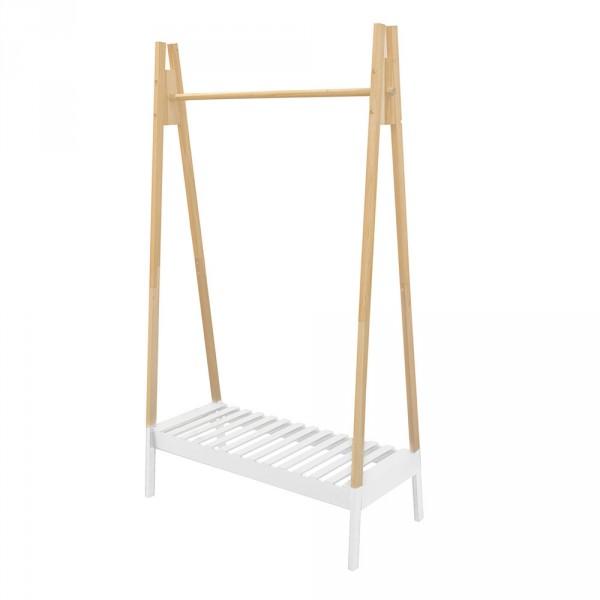 portant v tements izac blanc meuble de rangement eminza. Black Bedroom Furniture Sets. Home Design Ideas