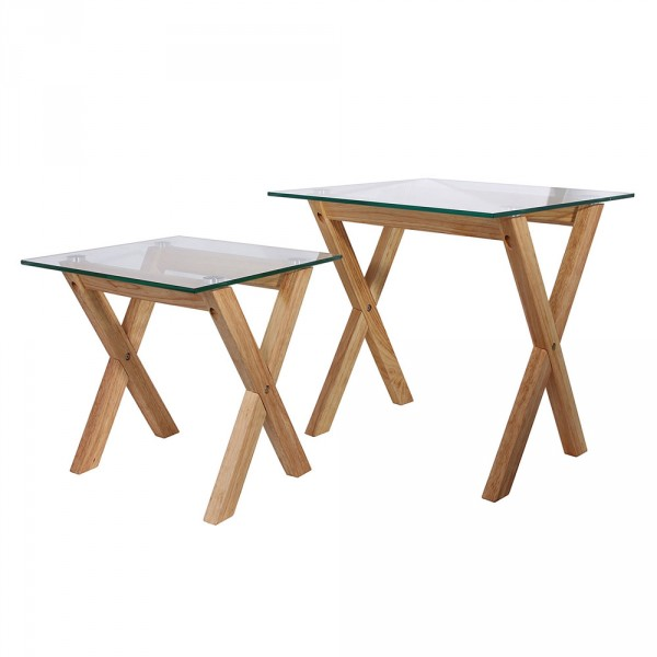 Lot de 2 tables à café Arya Naturelles