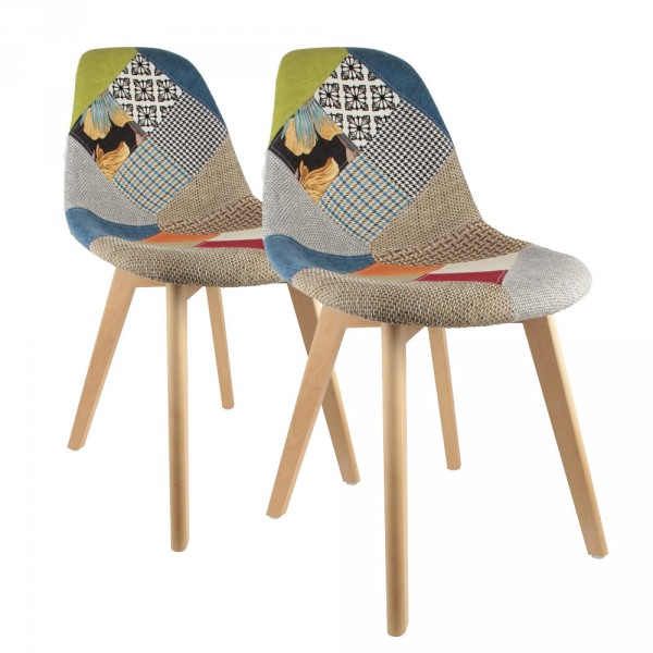 Lot de 2 chaises Sohan Multicolores