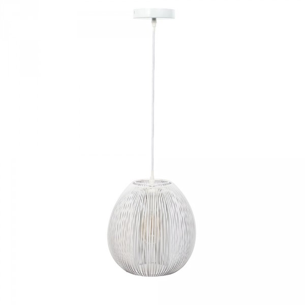 suspension boule blanc luminaire eminza. Black Bedroom Furniture Sets. Home Design Ideas