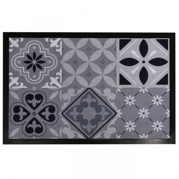 Tapis Multi Usage 60 Cm Carreaux De Ciment Gris Tapis Eminza
