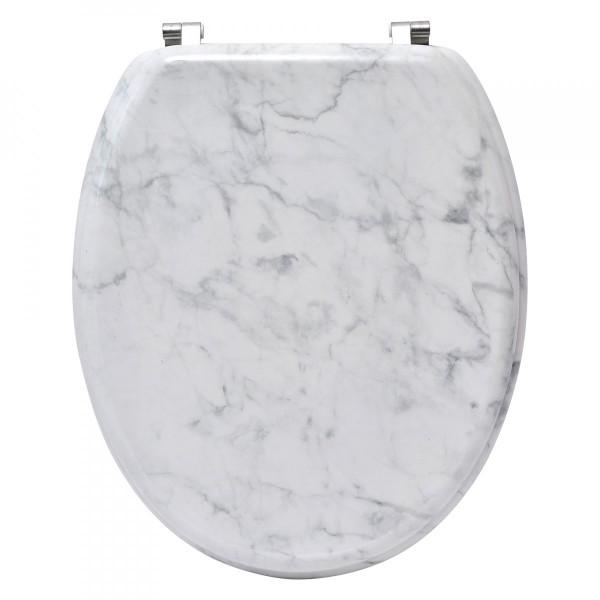 5d698633f0 Abattant WC Effet marbre Gris - Accessoire WC - Eminza