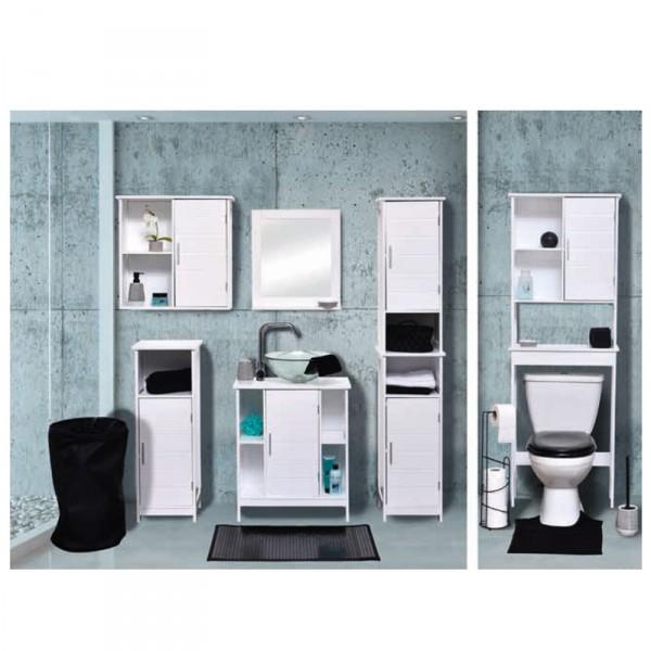 meuble dessous lavabo composeo blanc meuble de salle de bain eminza. Black Bedroom Furniture Sets. Home Design Ideas