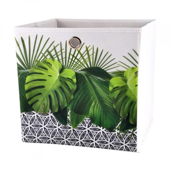 grande vente aa0af 81d1a Panier de rangement (31 x 31 cm) Jungle Vert