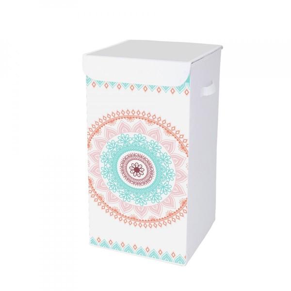 panier linge mandala rose rangement eminza. Black Bedroom Furniture Sets. Home Design Ideas