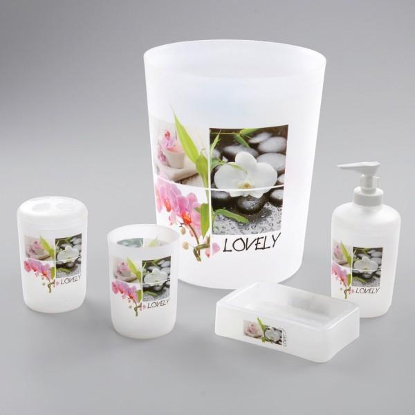 Kit d\'accessoires de salle de bain Lovely Rose - Accessoire Salle de ...