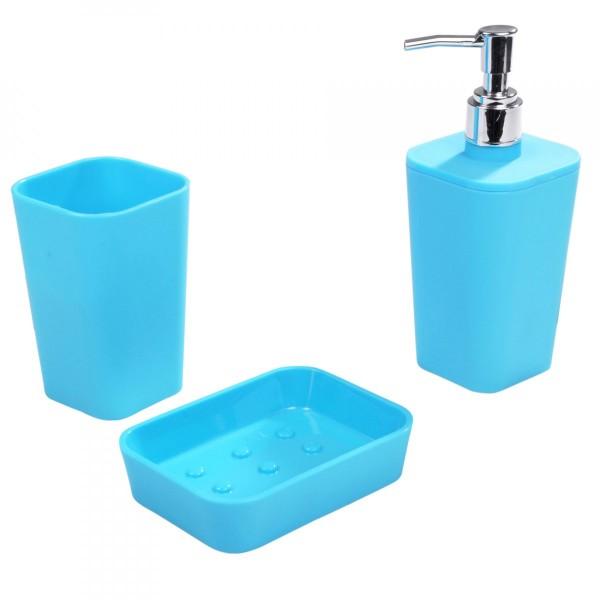 kit d 39 accessoires de salle de bain soft touch bleu oc an. Black Bedroom Furniture Sets. Home Design Ideas