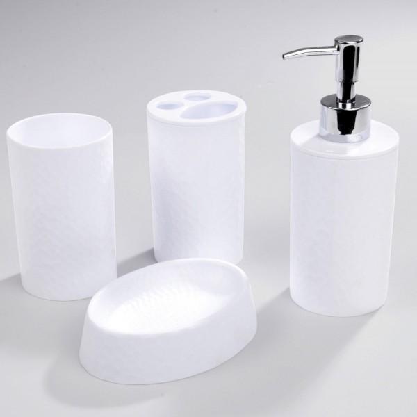 Kit d\'accessoires de salle de bain Urban Blanc - Accessoire Salle de ...