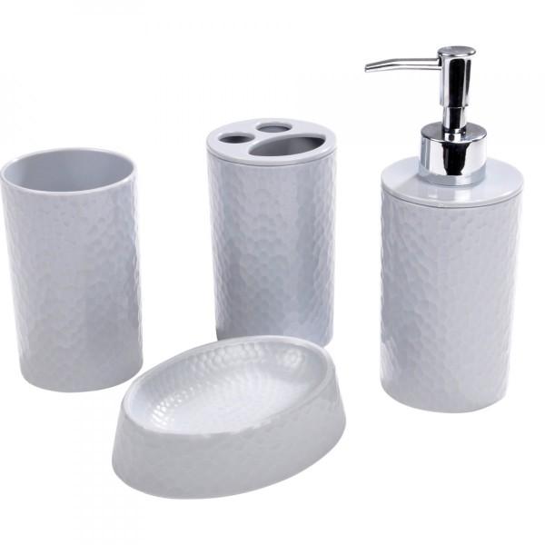 Kit d 39 accessoires de salle de bain urban gris clair accessoire salle de bain eminza - Accessoire salle de bain gris ...