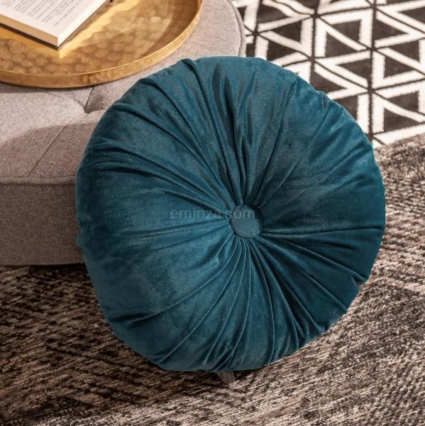 Coussin rond Dolce Bleu - Déco textile -