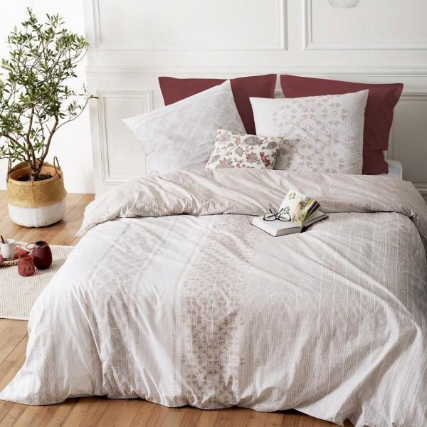 Bettwäsche Aus Baumwolle 260 Cm Elegance Weiß Bettwaren Eminza