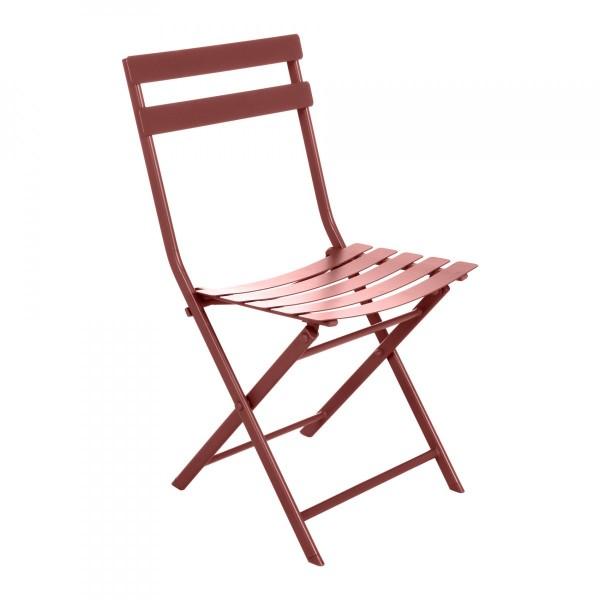 Chaise de jardin pliante Greensboro -Orange Terracotta