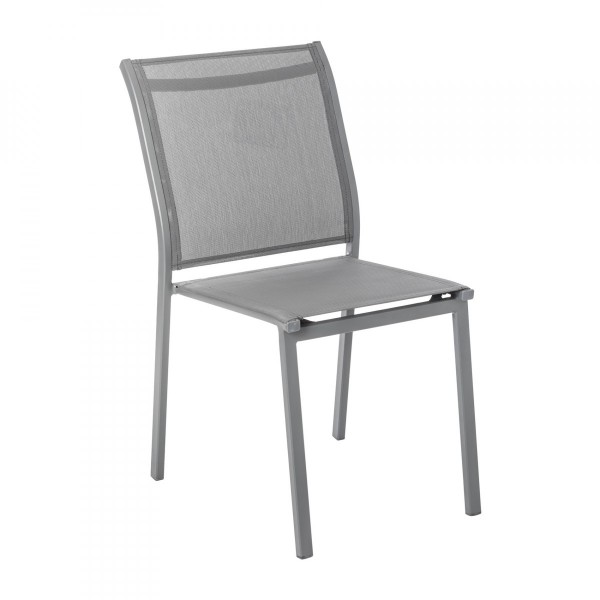 Chaise de jardin alu empilable Essentia -Gris ardoise