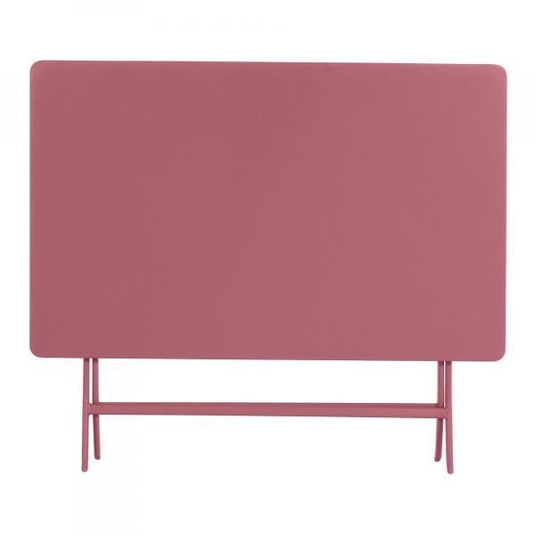 Table de jardin rectangulaire pliante Métal Greensboro (110 x 70 cm) -Rose  marsala