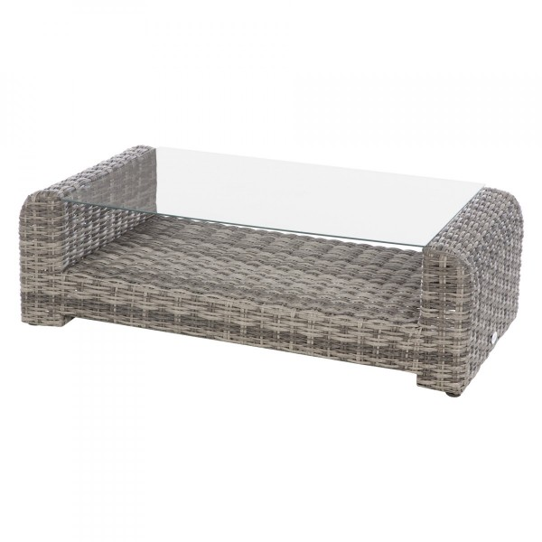 Table basse rectangulaire Moorea - Gris terre d'ombre