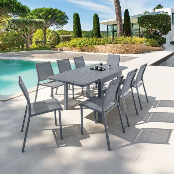 Stunning Table De Jardin Extensible Marino Gris Ideas ...