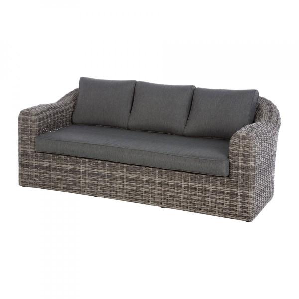 Canapé de jardin 3 places Moorea - Gris terre d\'ombre - Salon de ...