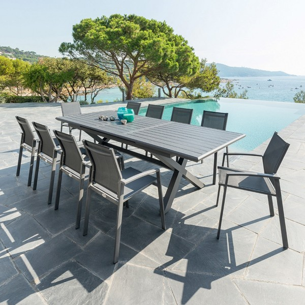 Table de jardin extensible Aluminium Axiome (279 x 113 cm ...