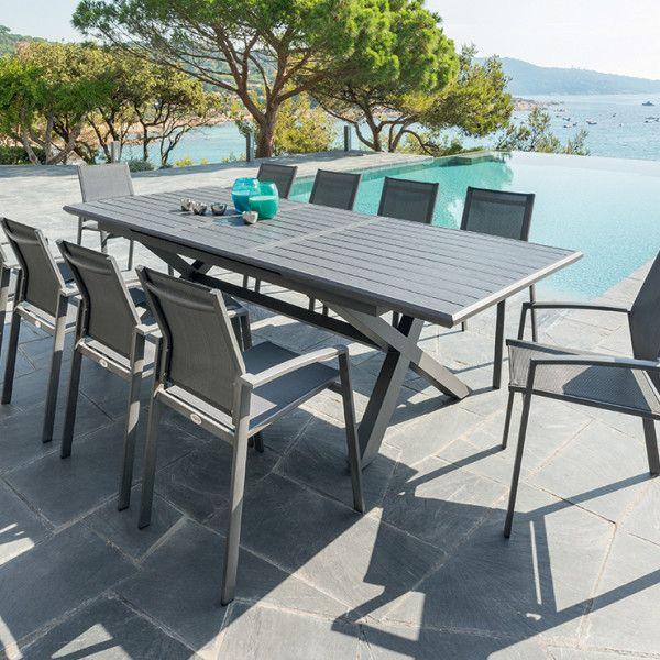 Table De Jardin Extensible Aluminium Axiome 279 X 113 Cm