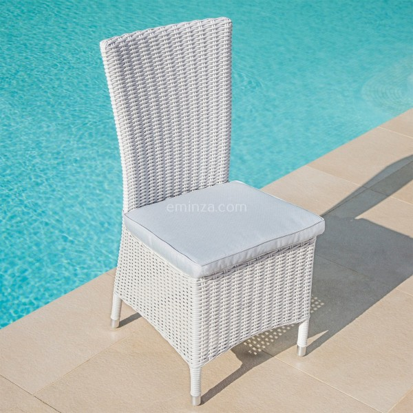 Lot de 2 chaises Calvi - Blanc - Salon de jardin, table et chaise ...