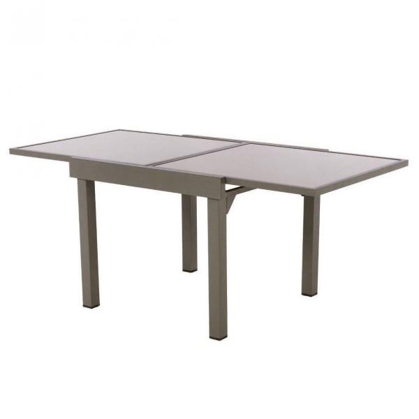 En X 90 De CmTaupe Verre180 Table Jardin Extensible lKcuT135FJ
