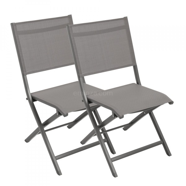 de Lot alu Brevia Anthracite chaises pliantes 2 PkOwn0