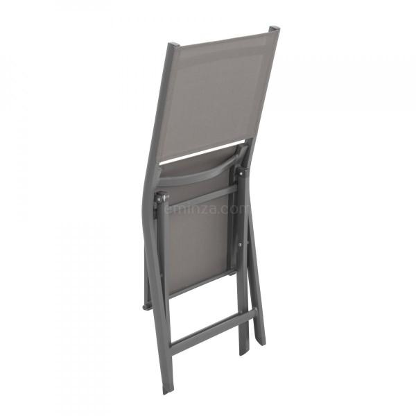 Lot de 2 chaises alu pliantes Brevia Anthracite