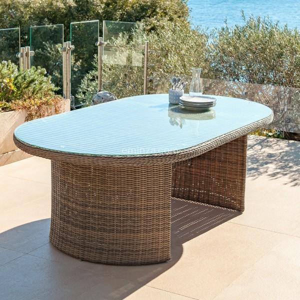 Jardin De Ovale Sépia Table Calvi vmN0w8nO
