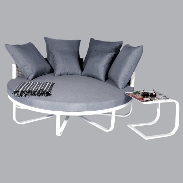 canap de jardin loveuse maeva blanc gris 2 places. Black Bedroom Furniture Sets. Home Design Ideas